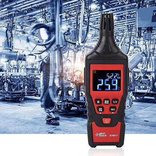 Higrómetro de termómetro Digital, portátil portátil con función de Apagado automático. Función Resistente a la corrosión para el Cultivo de Laboratorio Garden práctico