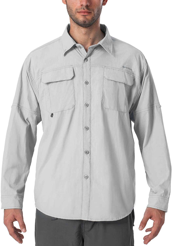 NAVISKIN Men's UPF 50+ Cheap super special price Jacksonville Mall Sun Fishing Hiking Shirt Light Protection