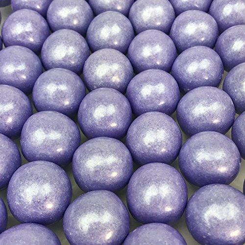 Large 1 Colored Shimmer Gumballs - 2 Pound Bags - About 120 Gumballs Per Bag (Shimmer Lavender)