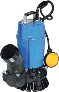 Tsurumi HSZ3.75S; Float Operated semi-Vortex Submersible Trash Pump w/Agitator, 1hp, 115V, 3