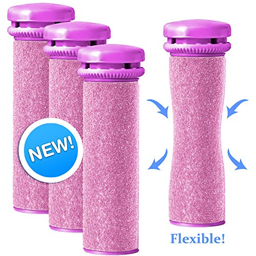 Emjoi Micro-Pedi Compatible SoftFLEX Technology Refill Rollers (Extra Coarse) - Pack of 4