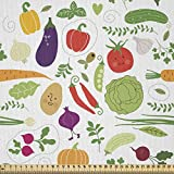 ABAKUHAUS Gemüse Stoff als Meterware, Vegetarisch Kohl,