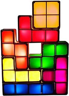 LEDライト テトリスライト アップグレード版 照明 おもちゃ 7色のブロック 組み立て自由 テトリス ブロック スポットライト デスクライト プレゼント ギフト 人気 インテ...