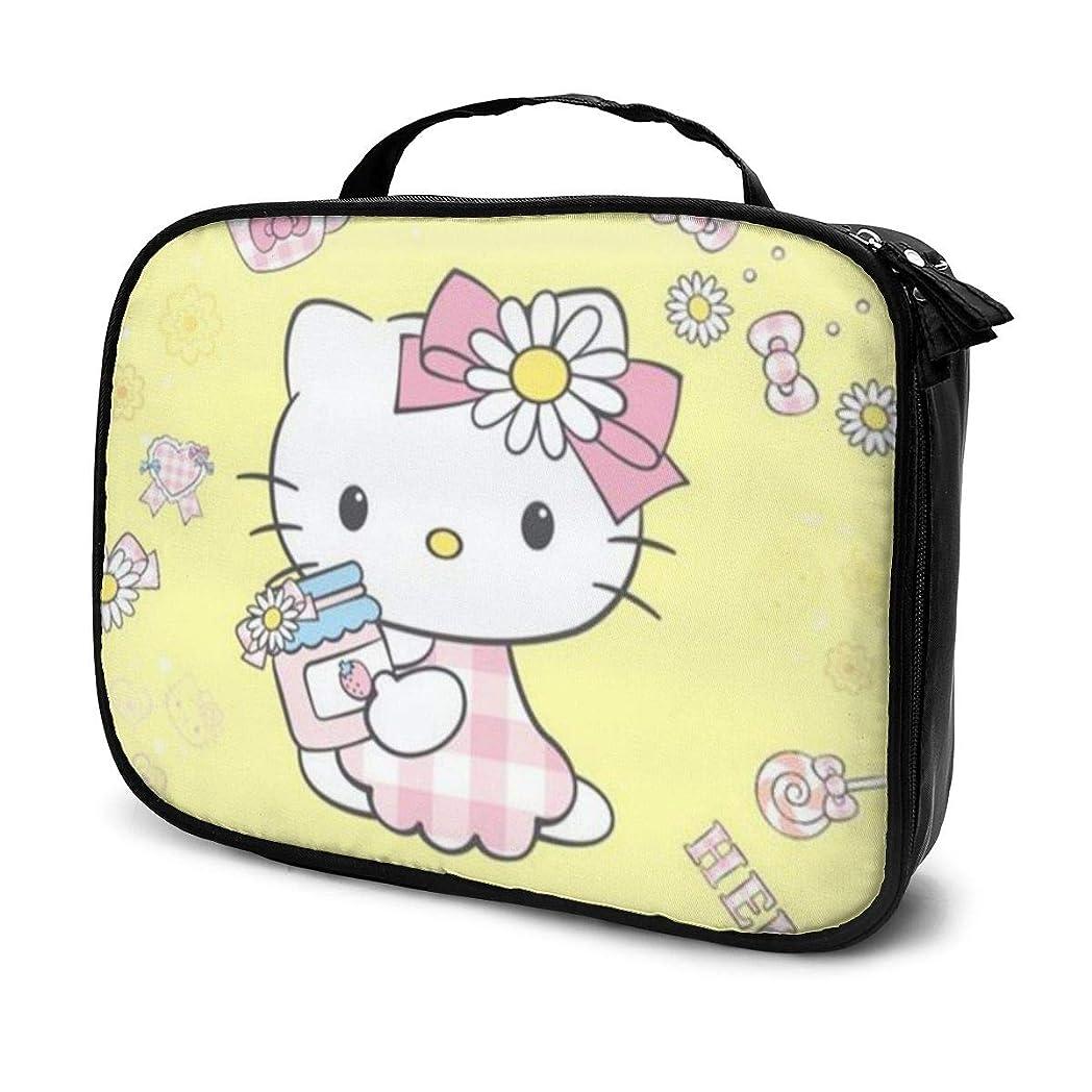 優先権副産物うそつきDaituかわいいハローキティ 化粧品袋の女性旅行バッグ収納大容量防水アクセサリー旅行