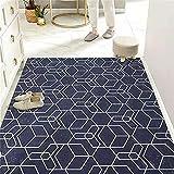 Teppich Treppe Teppich Draußen Blauer Teppich Geometrisches Design Wohnzimmer, Schlafzimmer, Eingangstürmatte Größe kann angepasst Werden 60X90CM Teppich Für Draußen