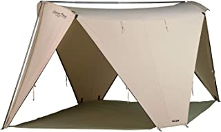 Springbar Leisure Port Cotton Canvas | 10'x14' Shade Tent, Screen House, and Shelter | Durable Design for High Winds | Ideal in Mountains, Beach, or Backyard