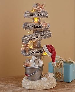 Lighted Christmas Tree with Beach Theme – Seas and Greetings