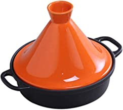 Casserole Tag TaJine Flat Casserole Ceramic Iron Plate Steam Rock Heat Resistant Kettle Stew Soup Pan 26cm Induction (Colo...