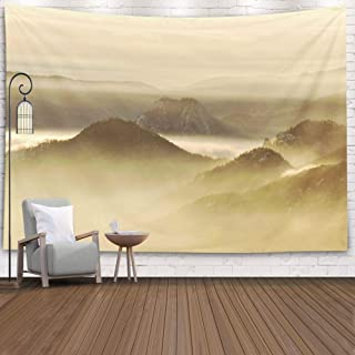 Crannel Tapestry, Titans Awakening Tapestry 80X60 Inches Wall Thanksgiving Fall Tapestries Christmas Hanging for Dorm Room Living Home Decorative