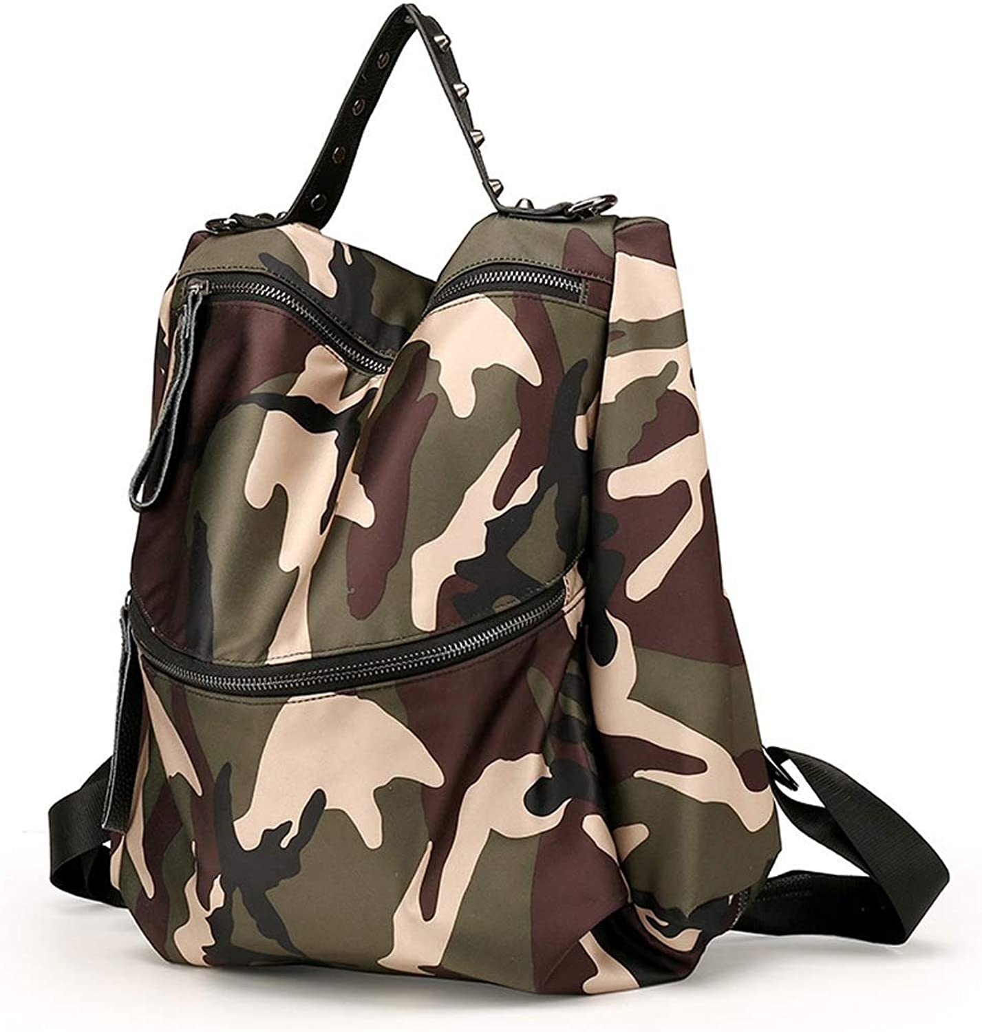IF.HLMF Female Nylon Backpack Fashion Waterproof Dayback College Sport Travel Shoulder Bags for Teen Girls (Farbe   Camouflage)