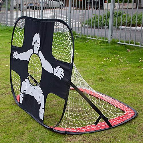 Cozyhoma Portería de fútbol desplegable para niños, portería de fútbol pop-up para patio trasero para niños, plegable y portátil, red de portería de fútbol al aire libre y juguete para interiores