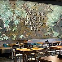 """ヨーロッパとアメリカのレトロな産業風バーコーヒーショップの背景の壁/ 300 cm(W)x 200 cm(H)(9'10""""x 6'7"""")ftのカスタマイズされた大きな壁画家"""