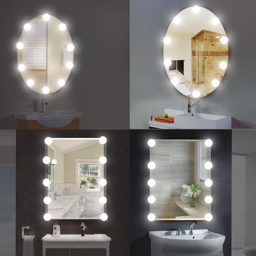 Spiegel Schminktisch Beleuchtung, LED Spiegelleuchte Spiegel ...