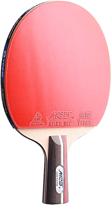 HXFENA Palas de Ping Pong,Raquetas de Tenis de Mesa con Excelente Control Y Giro Adecuado para NiñOs Adultos Actividades en Interiores Y Exteriores/A/Mango corto