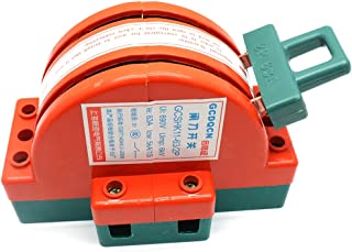 Sydien 2 Pole Double Throw DPDT Safety Disconnect Knife Switch Copper Circuit Breaker Backup Generator 63A 380V