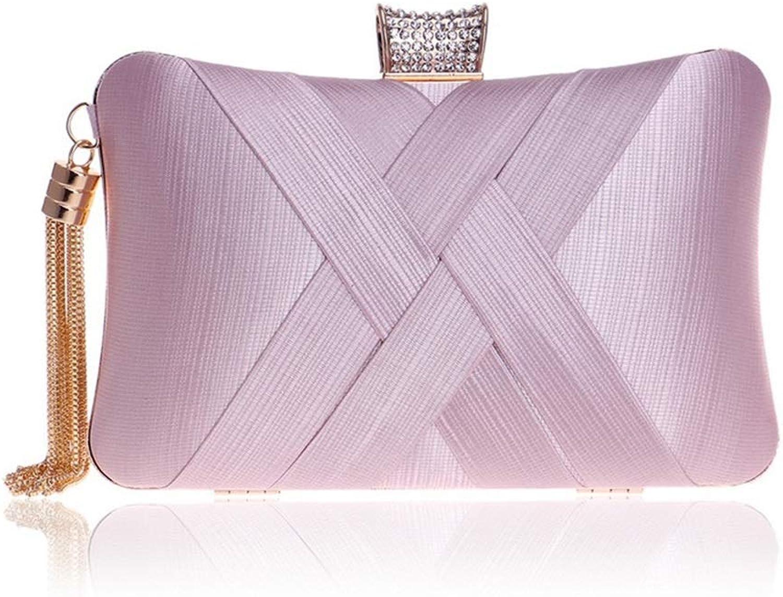 FangYOU1314 Frauen, die Handtasche Plissierte Clutch Clutch Umschlagkupplungen (Farbe   Rosa) B07MS1H5X7  Sehr gute Qualität