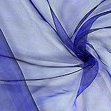 Fabulous Fabrics Organza königsblau, Uni, 145cm breit