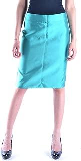 ARMANI COLLEZIONI Luxury Fashion Womens MCBI14939 Light Blue Skirt | Season Outlet