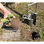 CHUMAA Bulb Planter, Weeder, Sod Plugger, Flower Planting, Soil Sampler-5-IN-1 Lawn Tool and Garden Tool - Enhanced… 19 SIMPLE AND EASY TO USE –To use, drive the Long-Handled Bulb Planter into the soil and turn clock-wise and counter-clockwise a few times to loosen up the dirt, then pull up. Dig 3.5inch diameter planting holes quickly, one after another, from a comfortable standing position. Avoid digging in dry or overly saturated soil. MULTI-USE GARDEN TOOL –Plant your garden favorites. Spring and fall bulbs, annuals, ground covers, vegetables and more. Makes a great lawn and sod plugger, weeding tool, soil sample tool and drip-edge fertilizing tool. TAKE THE PAIN OUT OF PLANTING –5-IN-1 Planting Tool allows you to work from a standing position, saving your back and knees. Comfortable, sturdy hand grips are helpful for seniors or those with mild arthritis.