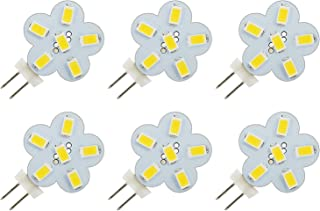 PACK OF 6 - G4 Bi Pin Lamp 3W LED Light Bulb Side Mount 2-Pin AC DC 12V 24V Replacement for JC Halogen Bulbs of Vehicle In...