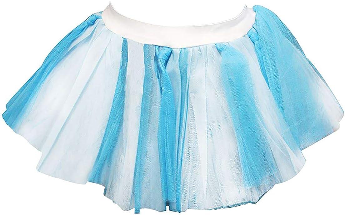 Rimi Hanger Womens Blue and White Feroza Tutu Mini Skirt Ladies Hen Night Party Wear Skirt One Size