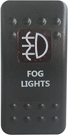Fydun Toggle Switch Car SPST Dome Fog Light Rocker Toggle Switch 12V 20A ON//OFF Switch with Red Safety Cover