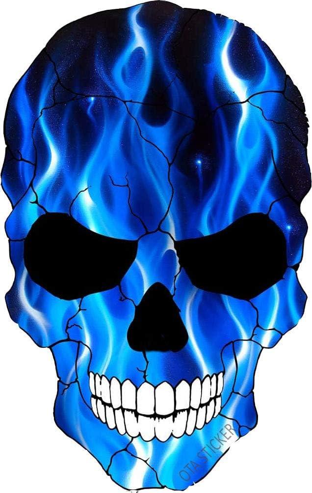 OTA STICKER Bumper Vinyl Skull Skeleton Devil Ghost Evil Zombie FIRE Blue Flame Ranger Rock Metal Heavy Decal Laptop Notebook Window Gift Motorcycle Helmet Luggage Truck Water Bottle Cooler Scrapbook