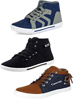 Earton Men Combo Pack of 3 Casual Sneakers Shoes