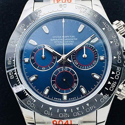TYUI Reloj de hombre s impermeable automático automático reloj impermeable reloj de trabajo correa de acero inoxidable resistente a los hombres ocasionales arañazos smartwatches-C