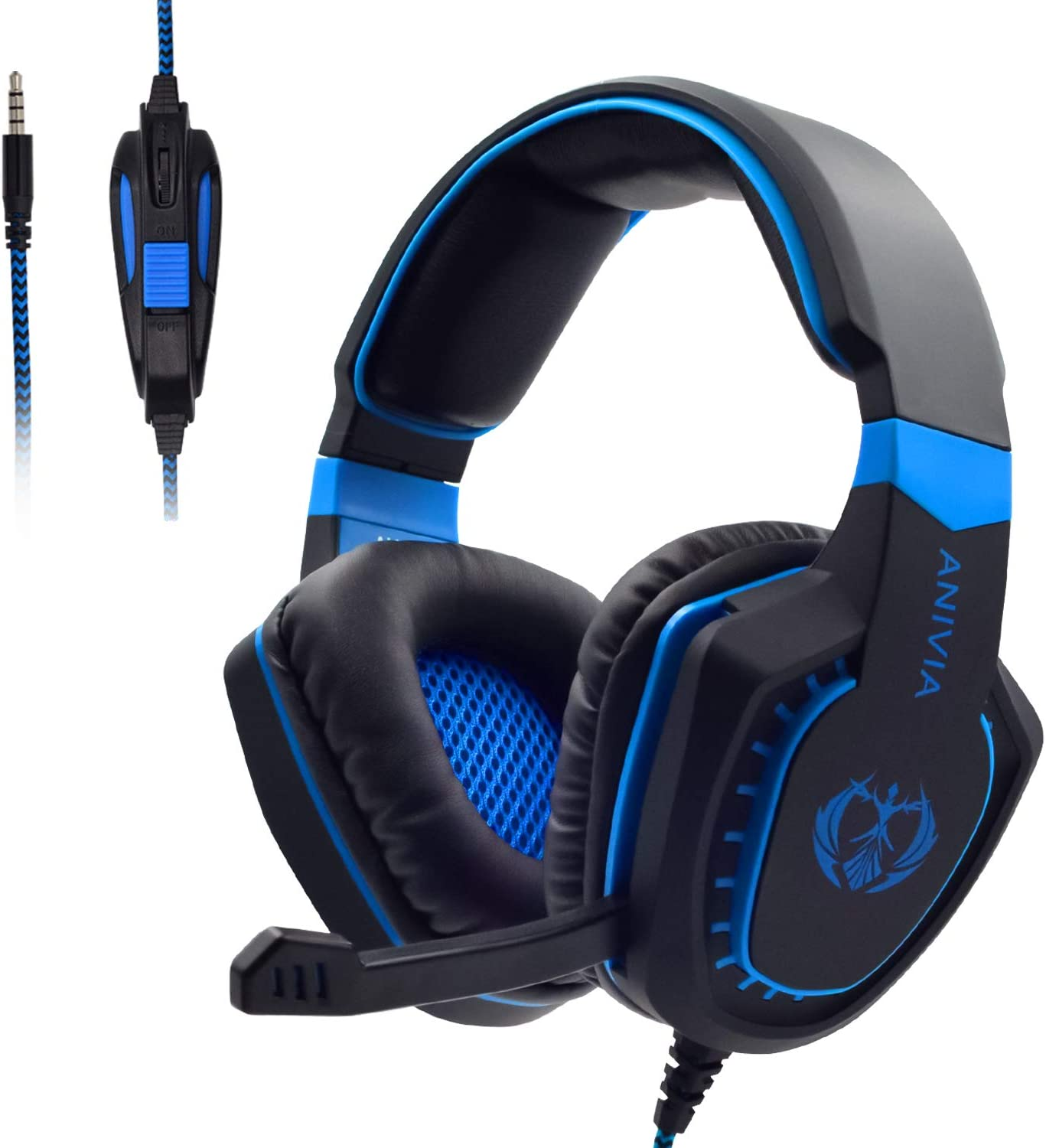 Super Special SALE held Anivia Gaming Headphones PS4 Austin Mall Compatible Mic Headset with