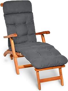 comprar comparacion Beautissu cojín colchón para Tumbona Flair DC - 200x50x8 cm con Relleno de gomaespuma - Apto para amacas y sillas de jardí...