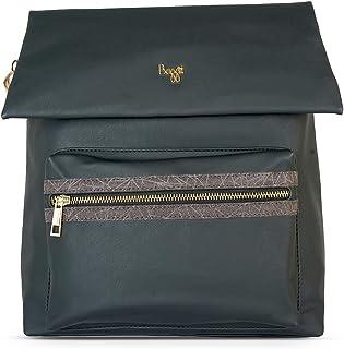 Baggit Spring-Summer 2021 Faux Leather Women's Backpack Handbag (Black) (Volga)