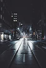 AOFOTO 5x7ft Urban Nightscape Lane Backdrop Halloween Party Decorations City Evening Street Buildings Alley Road Lamps Background Adult Girl Boy Artistic Portrait Photo Shoot Video Drop Studio Props