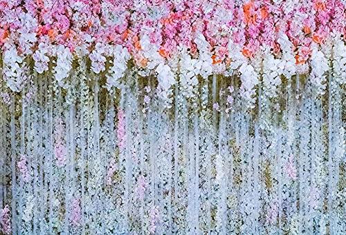 Fondo de fotografía Flor florete Boda Casarse bebé recién Nacido cumpleaños telón de Fondo Accesorios de Estudio fotográfico A14 5x3ft / 1,5x1 m