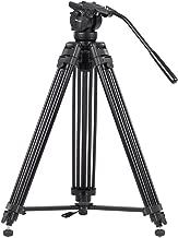 KINGJOY VT-2500 Mg-Al Alloy Video Photo Tripod Kit 360°Panorama Pan Fluid Ball Head for DSLR Camera Video Recorder DV Max Height 61 Inch Max Load 15KG