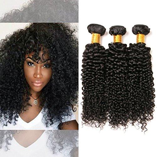 meches brésilien ondulé cheveux naturel 3 paquet 300g vierge Extension Produit longue 100 humain pas cher sunny cheveux unprocessed naturel couleur (14 16 18 Inches)