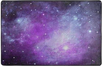 Multicolor Orediy Alfombra Grande de Espuma Suave para ni/ños poli/éster 160 x 122 CM dise/ño de Planetas Galaxias