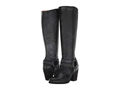 Frye Essa Seam Harness Tall (Black) Women