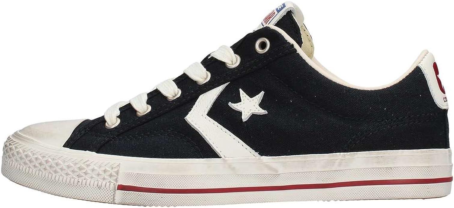 Converse Uomo Star Player 160922C/BLACK/EGRET/GARNET, in Tela ...