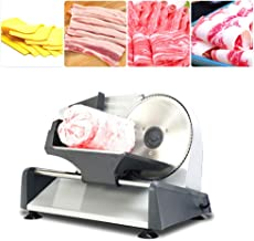 Decdeal KA18 Food Slicer Electric Meat Slicer with 7.5in Removable Stainless Steel Blade Pusher Cheese Fruit Vegetable Bre...
