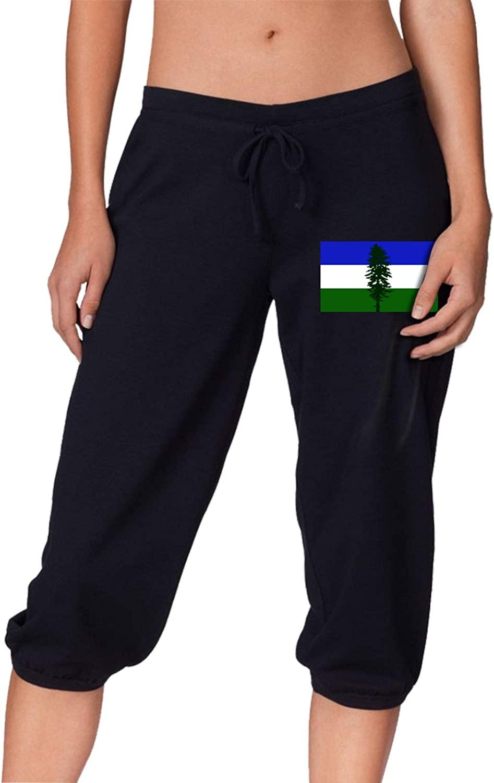 Cascadia Doug Same day shipping Topics on TV Flag Women's Pants Workout Capri Beam Cropped Trou