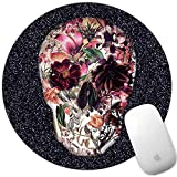 Marphe Mouse Pad Mousepad Non-Slip Rubber Gaming Mouse Pad Round Mouse Pads for Computers Laptop (Sugar Skull)