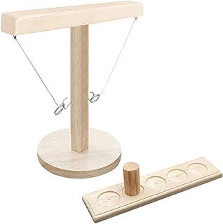 herommy Toss hakar och ring spel, ringkastningsspel av trä ring Toss Hook och ring inomhus/utomhus spel bordsskiva ringkas...