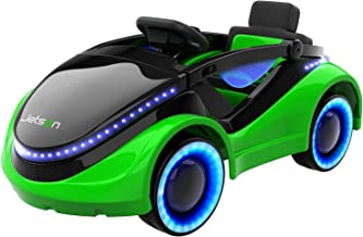 Jetson Moby Electric Racer with LED Light-Up Hood and Wheels, Foot Pedal and Remote Control Operation, Electric Ride-On for Kids, 18 Months and Older