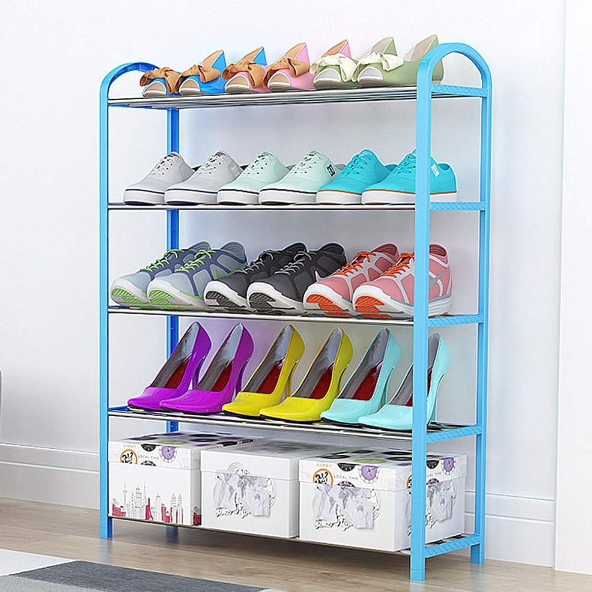レザーコレクション勧める簡単な多層靴箱、電流を通された管は耐久力があり、取付けること容易、臭気および変形無しです,Blue