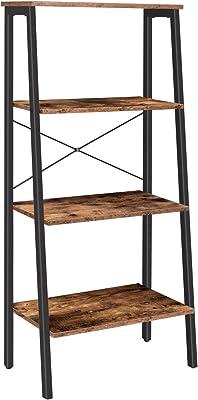 HOMECHO Estantería para Escalera Vintge con 3 Cajones Mueble Auxiliar Alto con 3 Estantes para Salón Oficina Dormitorio Entrada Marrón 51x175x40 cm: Amazon.es: Hogar