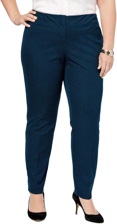 Alfani Womens Plus Knit Printed Skinny Pants