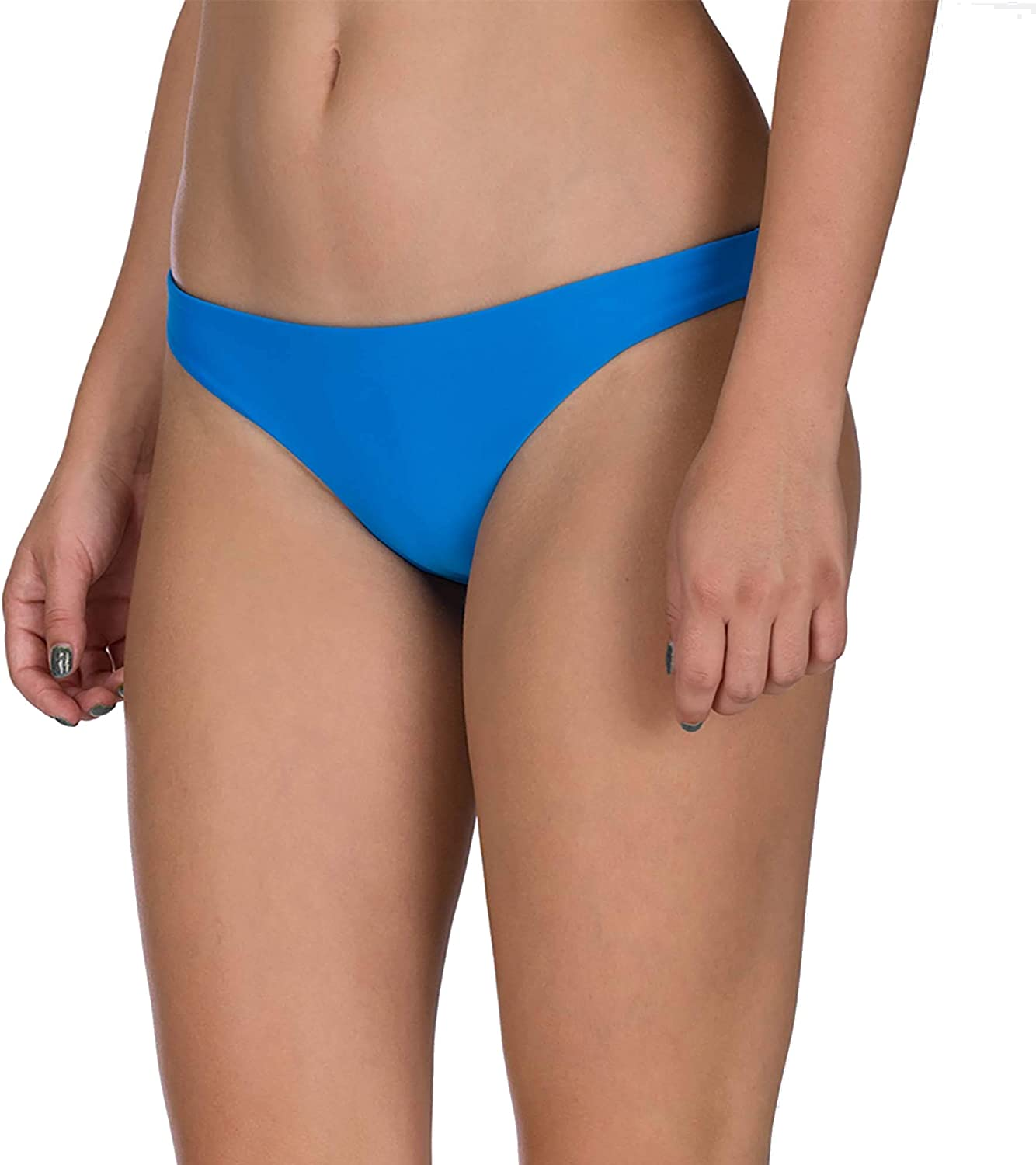 Hurley Women's Quick Dry Compression Bottom Denver Mall Surf Solid Bombing free shipping Bikini