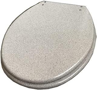 GLJJQMY ホワイトフラッシュトイレシート、超耐久性のある尿素 - ホルムアルデヒド樹脂減速トップ固定トイレカバー、40〜48 Cm X 33〜38 Cm U/V/O形状対応トイレ トイレカバー (Color : Whiteglitter, Size : 40~48cm*33~38cm)