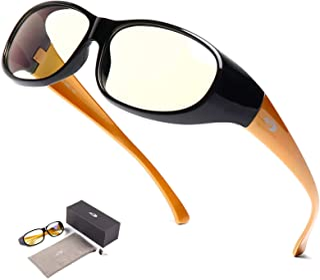 AHT Computer Glasses for Women and Men - Fit Over Blue Light Blocking Glasses, Wear Over Prescription Glasses/Reading Glas...